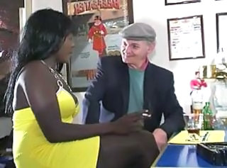 Daddy Drunk Ebony Interracial Old and Young Smoking