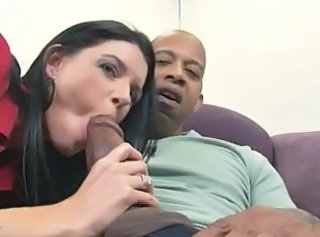 Big cock Blowjob Brunette Interracial MILF