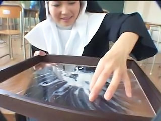 Asian Nun Swallow Uniform