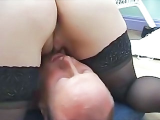 Ass Close up Licking Stockings