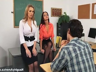 Bus School Student Teacher Threesome