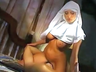European Facesitting Italian MILF Nun Uniform