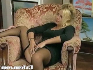 Masturbating MILF Stockings