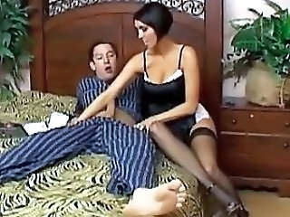Handjob MILF Pornstar Stockings
