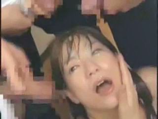 Asian Bukkake Cumshot Facial Japanese Teacher