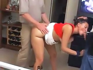Amateur Blowjob Clothed MILF Threesome