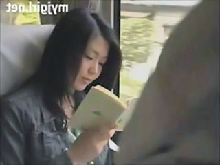 Asian Bus Cute Japanese MILF Public