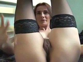 Close up Masturbating MILF Pussy Stockings