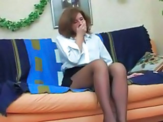 MILF Mom Pantyhose Russian
