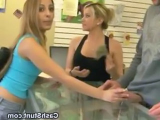 Amateur Blonde Cash Handjob Public Teen