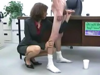 CFNM Handjob Office Secretary