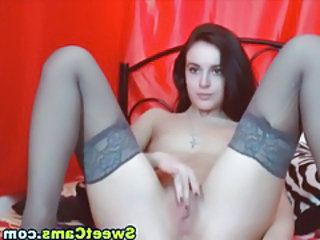 Masturbating Solo Stockings Teen Webcam