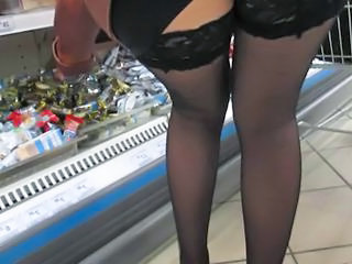 Public Stockings Upskirt Voyeur