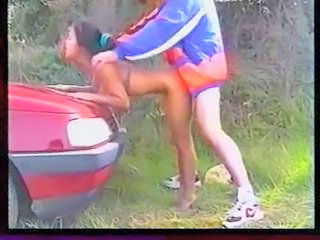 Asian Car Doggystyle Japanese Outdoor Teen