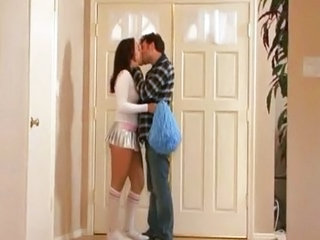 Cheerleader Creampie Kissing