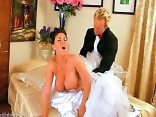 Big Tits Bride Doggystyle Hardcore MILF Uniform Wife