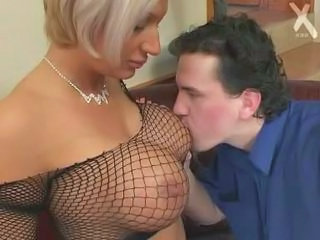 Big Tits Fishnet Mature