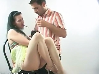 Legs Smoking Teen