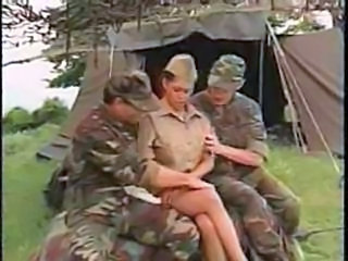 Army MILF Outdoor Threesome Uniform