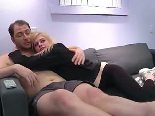 Blonde Daddy Old and Young Teen