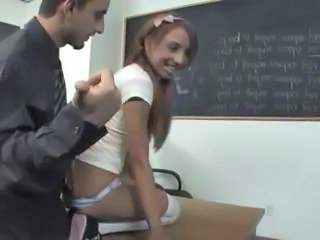 Ebony Interracial School Student Teacher Teen