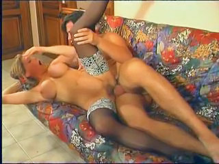 Big Tits European French Hardcore MILF Mom Silicone Tits Stockings