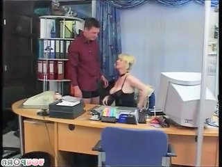 Big Tits Blonde German MILF Office Secretary