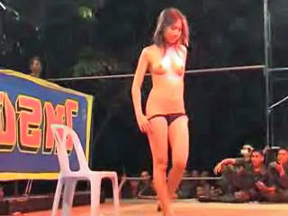 Asian Dancing Public Stripper Teen Thai