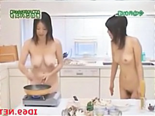 Asian Japanese Kitchen MILF Nudist SaggyTits