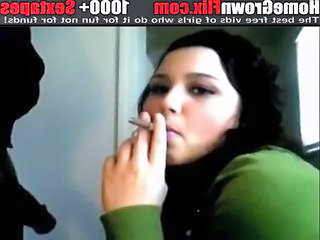 European Smoking Spanish Teen
