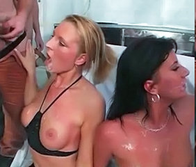 Bukkake European Gangbang German Party