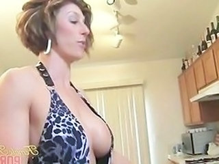 Big Tits Kitchen Mature