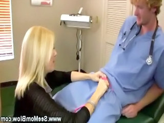 Blonde Doctor Handjob Mature Mom Old and Young