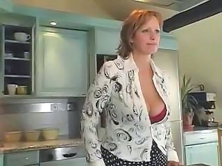 Big Tits Kitchen MILF Mom