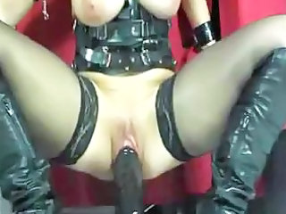 Corset Dildo Latex Riding Stockings