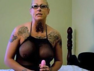 Big Tits Dildo Fishnet Glasses Mature Tattoo