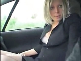 Amateur Car European French MILF