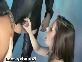 Babe Handjob Latex Pain
