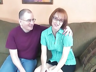 Nerd Housewife Layla Sucks Off A Pair Of Dicks