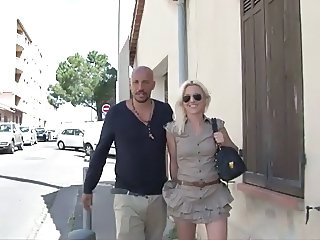 European French Glasses MILF Outdoor