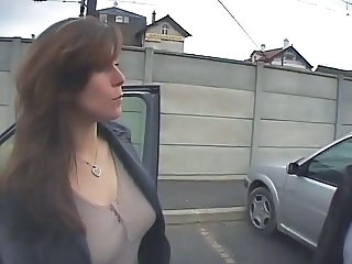 Anal Car European French MILF Outdoor