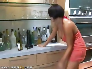 Drunk Kitchen MILF