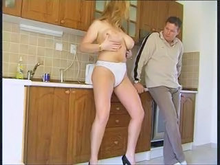 Big Tits Kitchen MILF Natural Panty