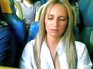 Bus Public Sleeping Voyeur