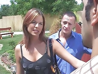 MILF Outdoor Pornstar Threesome