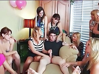 Handjob MILF Party