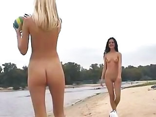 Beach Game Lesbian Nudist Outdoor Public Teen