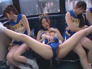 Asian Bus Cheerleader Japanese Lesbian Uniform