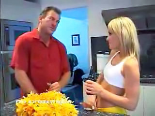 Blonde Cheerleader Kitchen Pornstar