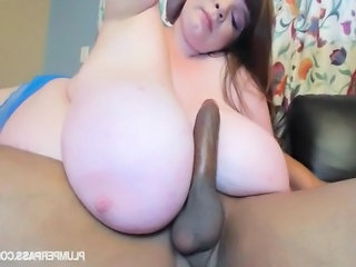 BBW Big cock Big Tits Interracial Pornstar SaggyTits Tits job